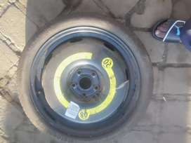 Biscuit  tyre with rim for vw