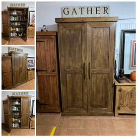 Grocery Cupboard Farmhouse series 2100 - Stained