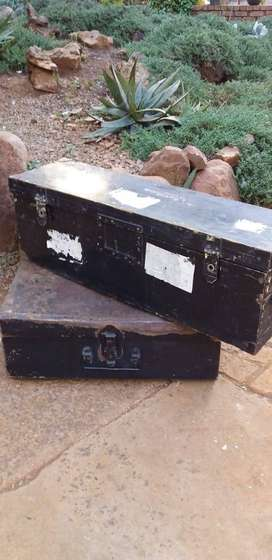 Old Trunk & Wooden Box