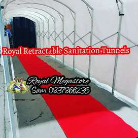 Retractable Sanitation Tunnel 2m x 10m for Trolley Sanitizing Shops