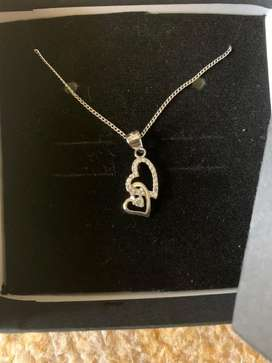 Silver Heart-shaped Necklace