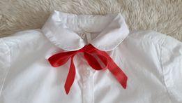 Koszula Max&Mia, 5-10-15, czerwona kokardka, jak nowa!