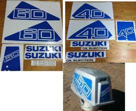 Suzuki DT60 outboard motors cowl decals stickers kit