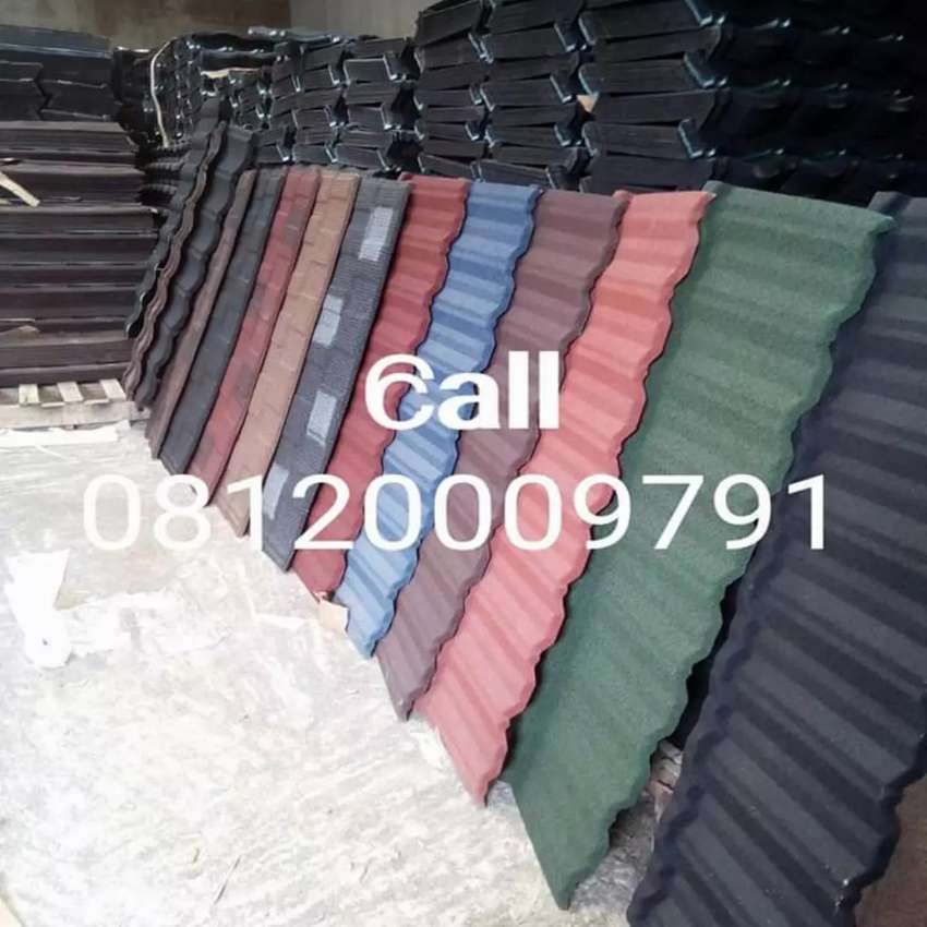 IN NIGERIA AUTHENTIC ANTI RUST STONE COATED ROOFING SHEET / ROOF TILES 0