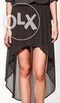 ZARA czarna spódnica TRF asymetryczna NOWA