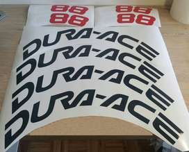 Dura-ace bicycle frame and rim decals stickers