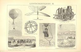 SAMOLOTY, BALONY, STEROWCE piękne reprodukcje XIX w. wiek do wystroju