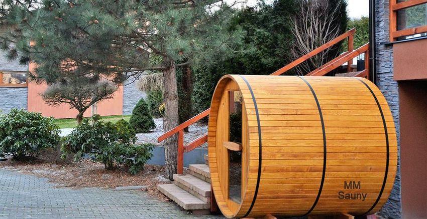 Finská sudová sauna 0