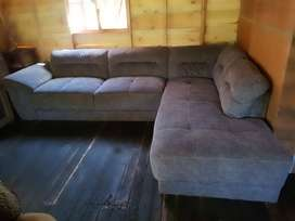 L shape lazyboy couch for sale .