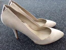 Buty zamszowe ZARA rozmiar 38 - kremowe