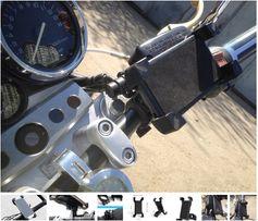 Крепление телефона держатель на руль мотоцикла