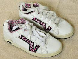 Кроссовки мужские VANS кожаные, белые, раз. 41, Длина стельки 25.5 см.
