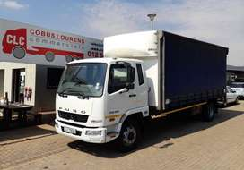 USED 2018 FUSO FK13-240 TAUTLINER/CURTAINSIDE