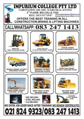 FORKLIFT TRAINING AND OTHER LIFTING & CONSTRUCTION MACHINERIES.