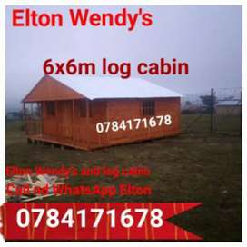 Alfred Wendy's and log cabin