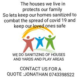 Garden home and play area yard sanitizing