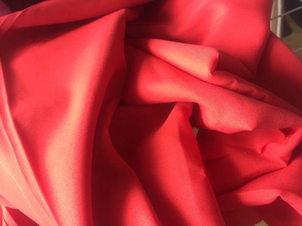 Ткань для платья,блузки,майки красная отрез ткани ,цена за весь отрез!