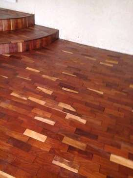 Parquet floors installations sanding and sealing