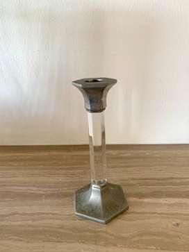 Glass and Steel Candle Holder