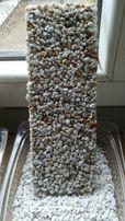 Komplet z GRUNTEM na 39 m2 kamienny dywan numer 17 grys WHITE