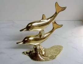 Brand new Brass Art Double Dolphin - Orders welcome