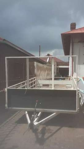 solid steel heavy duty trailer