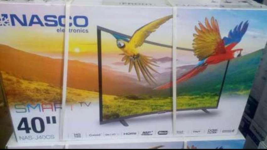 "NASCO 40"" SMART CURVED FULL HD DIGITAL SATELLITE LED TV 0"