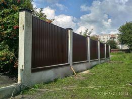 Паркан,паркани,забор,огорожа, бетонні роботи,розсувні ворота.