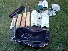 Cricket kit with 4 bats