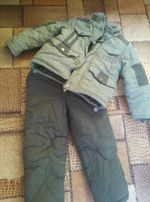 Зимний костюм, комплект, комбинезон + куртка р. + - 110-116