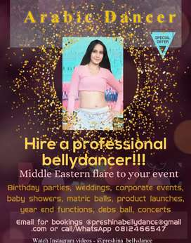 Hire a professional bollywood or bellydancer(national&international)