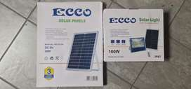 Ecco Solar panel and light