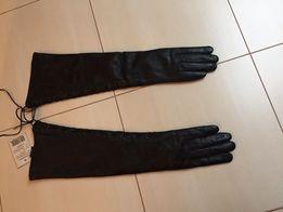 Rękawiczki skórzane czarne 120zl