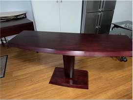 Wooden curved table