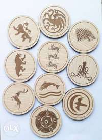 Engraved Coasters and keyholders 0