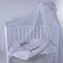 Фатиновый балдахин с креплением на кроватку новорождённого