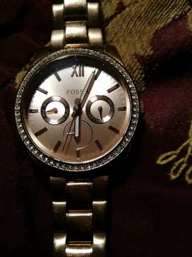 Stunning rose gold FOSSIL WATCH