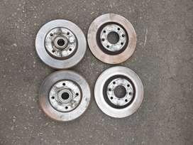 Peugeot 208 / 308 rear disc with wheel bearings and abs rings