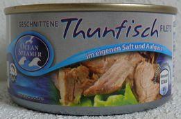 Тунец филе в собственном соку Thunfisch Германия 200g