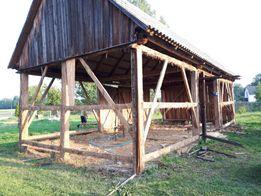 Skup starego drewna desek stodoła rozbiórka
