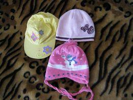 Пакет головных уборов для девочки,шапка,кепка,бейсболка,шапка зимняя