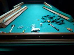 Профессиональная сборка и ремонт бильярдных столов