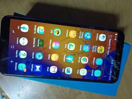 Samsung j4 for sale with cracked screen