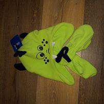 Nowy komplet czapka i rękawiczki