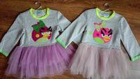 NOWA sukienka z tiulem Angry Birds rozmiar 104, 110