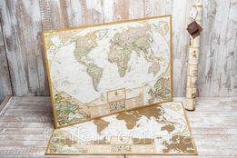 Скретч карта мира 3 в 1 My Map Antique