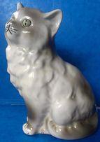 Stara figurka porcelanowa Ćmielów kot