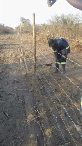 Game fancing wire farms yards installation
