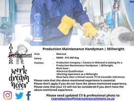 Production Maintenance Handyman | Millwright