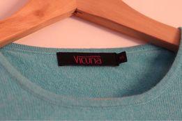 Kaszmir sweter Vicuna wełna kaszmir turkusowy